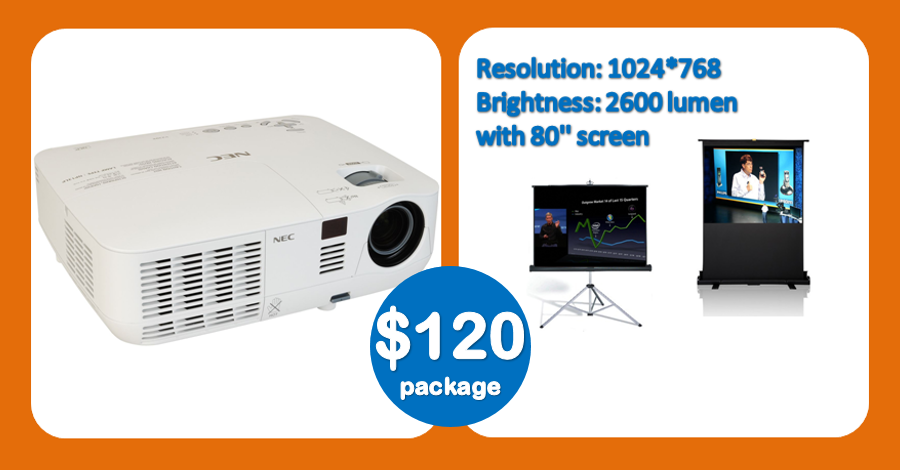 new cheap DLP projector hire Sydney for business presentation 120 deal