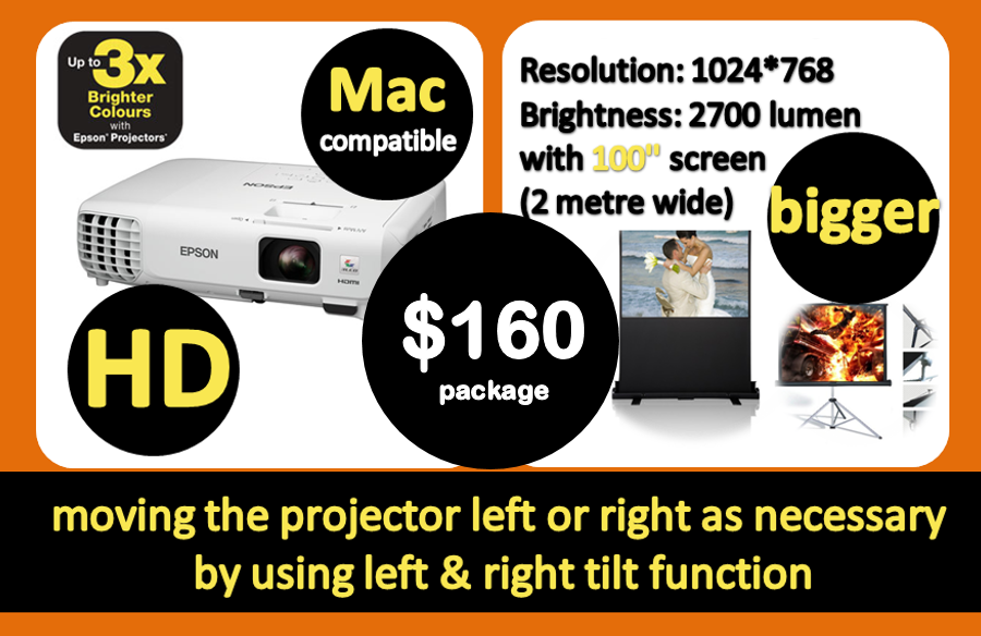 new cheap data projector hire Sydney 160 deal