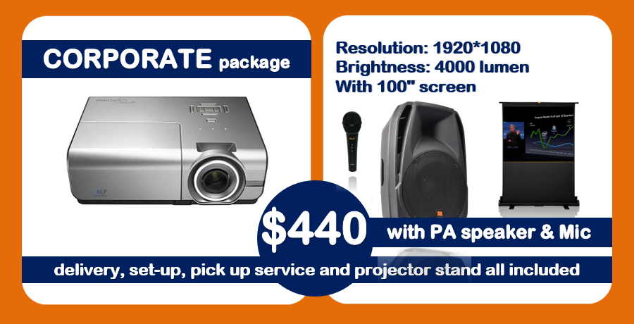 new corporate projector package deal hire Sydney 440