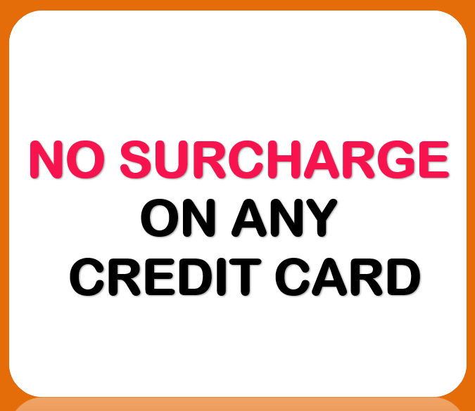 no surcharge on any credit card for projector hire