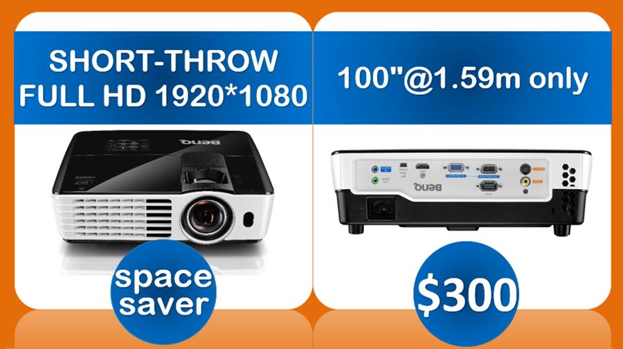 short throw full hd data projector hire Sydney