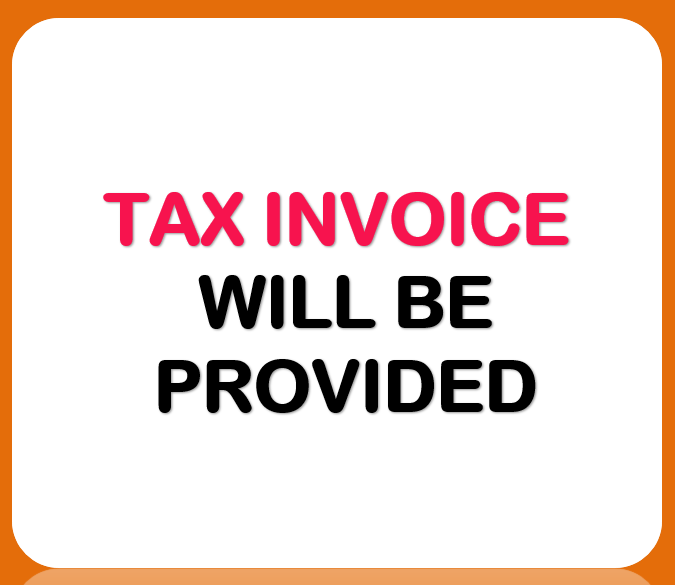 tax invoice will be provided for any projector and screen hire