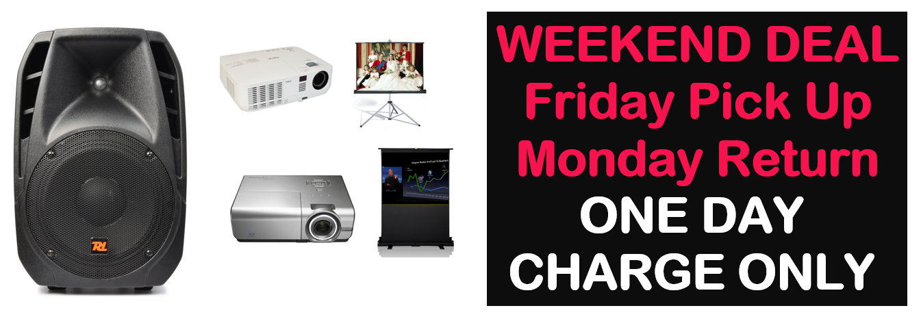 weekend deal of Sydney projector hire