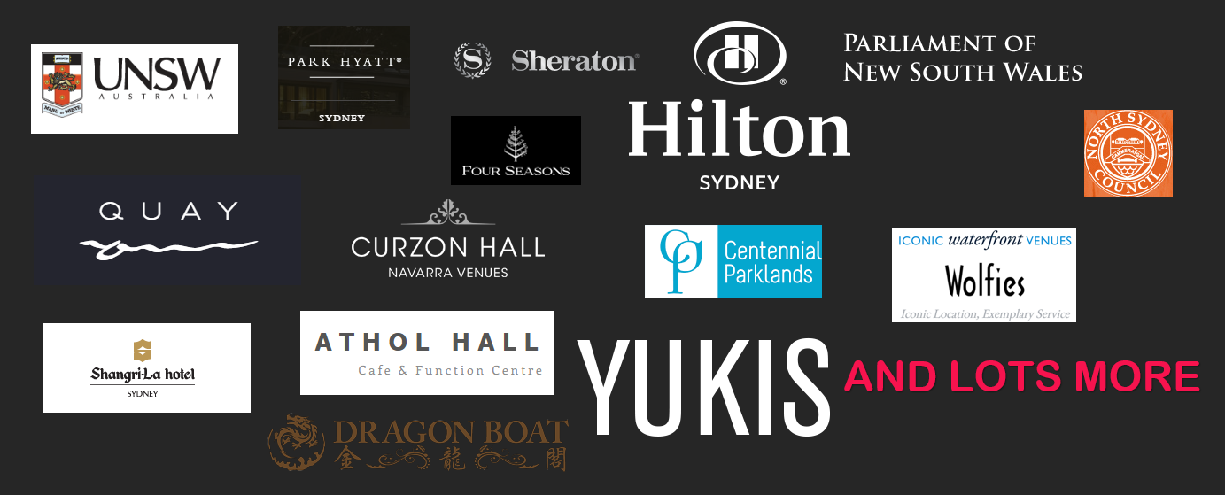 the venues Sydney projector hire has been to